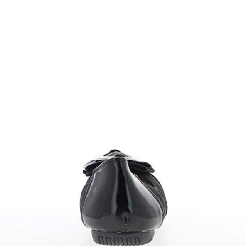 Ballerine Bi-peinte Noire Et Rembourrée