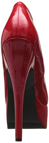 Ellie Shoes Womens 652-prince Platform Pump Red