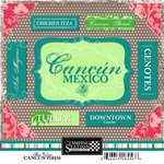 Scrapbook Customs - World Collection - Mexico - Cardstock Stickers - Cancun - Bon ()