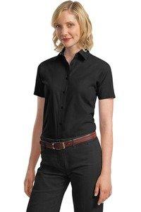 Port Authority Ladies Short Sleeve Value Poplin Shirt L633 (Value Poplin Shirt)