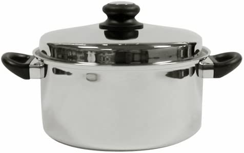 Tuxton Home Reno 5 Quart Dutch Oven Stainless Steel, PFTE PFOA Free, Freezer to Oven Safe, Induction Compatible