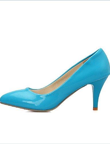 XZZ/ Damen-Stiefel-Kleid / Lässig / Party & Festivität-PU-Kitten Heel-Absatz-Absätze-Blau / Gelb blue-us9 / eu40 / uk7 / cn41