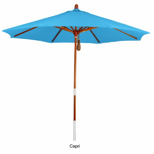 - Phat Tommy 7.5 Ft. Marenti Wood Outdoor Market Umbrella with Pacifica Fabric - Outdoor Living & Shade, Capri
