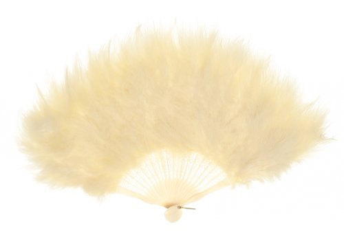 Zucker Feather (TM) - Marabou Feather Fan - Ivory Fancy Fan