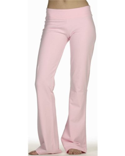 Bella Ladies Cotton/Spandex Fitness Pant in Pink -