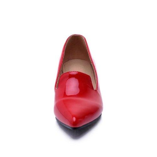 Scarpe Con Tacco Medio Da Donna Con Tacco Medio, Scarpe A Punta Rosse