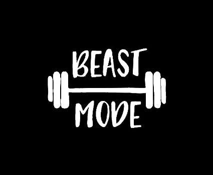 Amazon Com Makarios Llc Beast Mode Barbell Gym Decal Vinyl