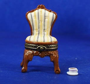 Chair and Cup of Coffee PHB Porcelain Hinged Box Midwest of Cannon ()