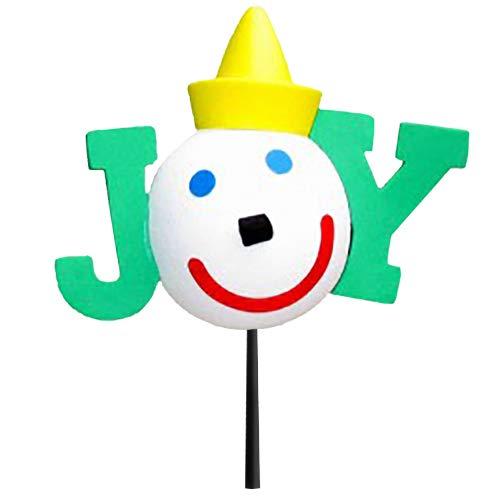 Jack in The Box - Original Year 2015 Green Joy Car Antenna Topper/Mirror Dangler/Desktop Spring Stand + Happy Face Antenna Ball
