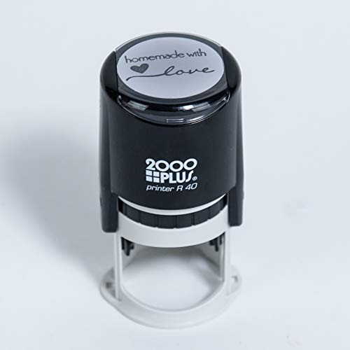 Homemade with Love Self-Inking R40 Round Stamp, 1 1/2