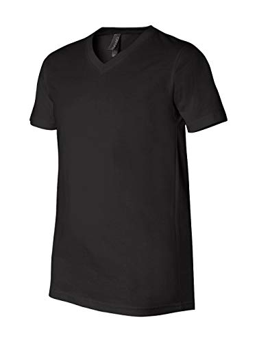 Bella + Canvas Unisex Jersey Short-Sleeve V-Neck T-Shirt L BLACK