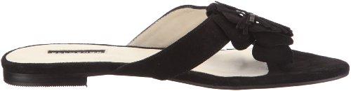 Belmondo 125170/H 125170/H - Sandalias de vestir de cuero nobuck para mujer Negro