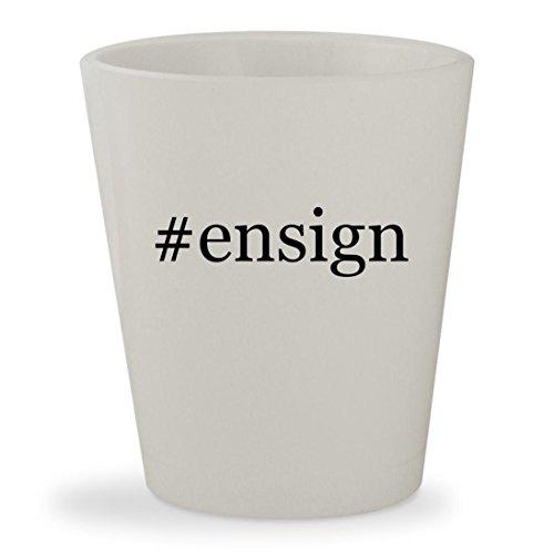 Ensign   White Hashtag Ceramic 1 5Oz Shot Glass