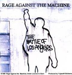 Rage Against The Machine - White Battle Of Los Angeles - Sticker / Decal (Rage Against The Machine Decal compare prices)