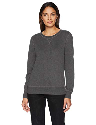 Amazon Essentials Women's French Terry Fleece Crewneck Sweatshirt Sweater, -charcoal heather, XX-Large