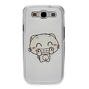 Cuty Kitten Drawing Pattern Neutral Stiffiness Silicone Gel Back Case Cover for Samsung Galaxy S3 I9300