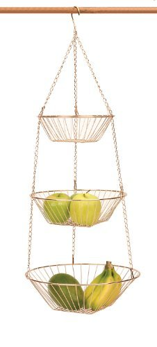 RSVP 3-Tier Hanging Baskets, Copper Wire