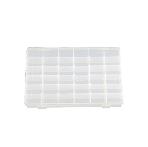 JDYYICZ 36 Grids Clear Plastic Jewelry Box Organizer Storage Container with Removable Dividers