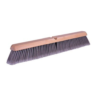 Weiler Floor Brush – 18'', for Fine Sweeping, Synthetic Fill, Flagged