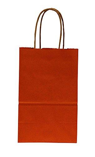 (Premier Retail Pinstripe Shopper Bags - Terra Cotta - 100 Count 5.25x3.5x8.25 inch)
