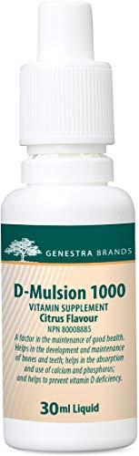 Genestra Brands - D-Mulsion 1000 - Emulsified Vitamin D - Citrus Flavor - 1 fl oz (30 ml)