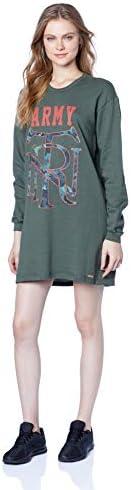 Vestido Curto de Moletom Estampado, Triton, Feminino