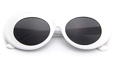 "Authentic CLOUT GOGGLES |""The Original"" Oval Retro Kurt Cobain Sunglasses (White) OG Clout"