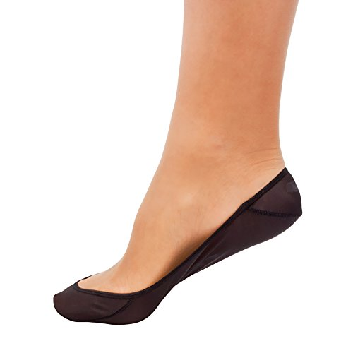 SHEEC - SoleHugger SECRET SHEER No-Show Socks - 1 Pair (Black/Large)