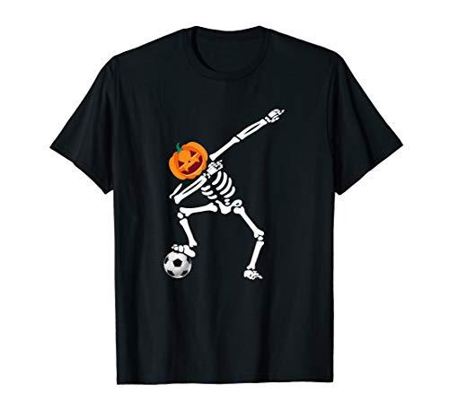 Kids Referee Shirt Halloween Costume (Funny Halloween Costume Dabbing Skeleton Soccer Gift)