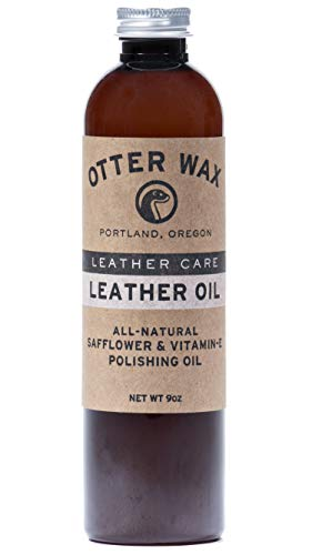Otter Wax Leather Oil | 9oz | All-Natural Universal Polish & Conditioner | Made in USA