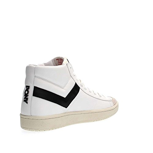 Pony 500A PRO80 Hi Leather Sneakers Uomo Off White/Black
