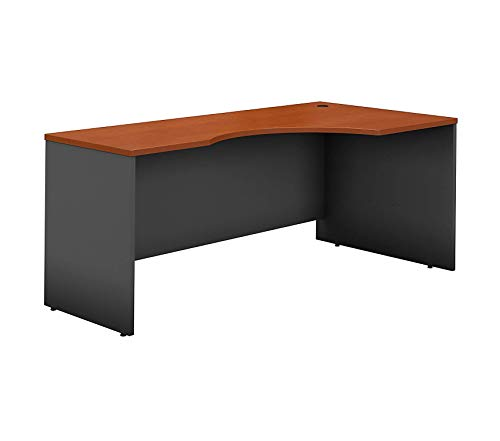 - Wood & Style Office Home Furniture Premium Series C 72W Left Handed Corner Desk in Auburn Maple