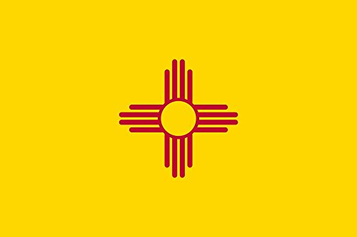 New Mexico Flag 3x5 Polyester - State Flag of New Mexico by SoCal Flags® - Buy From an American (New Mexico State Flag)