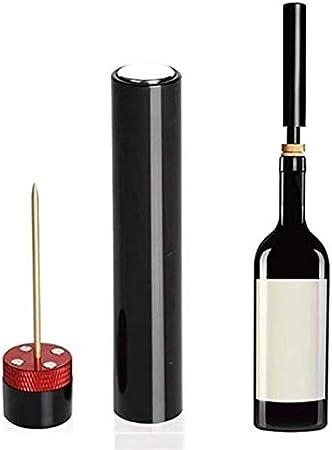 wsxc Sacacorchos de Vino, Herramienta de Apertura de la Bomba de Aire, Tanque de Aguja de Acero Inoxidable, Robusto y Duradero, Utilizado en Cocina y Bares de Cocina (Color : Silver)