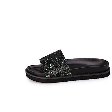 Wome's sandalias Primavera Verano PU Confort vestir casual Chunky tal¨®n US6.5-7 / EU37 / UK4.5-5 / CN37