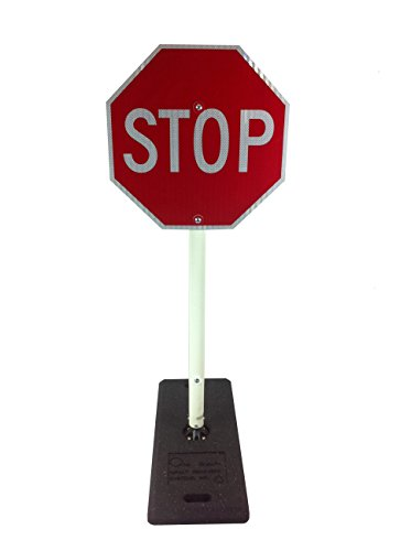 Portable Sign Posts (Impact Traffic - 5' Parking Lot Flexible Stop Sign, with Portable Base)