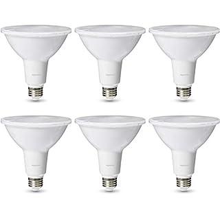 AmazonBasics Commercial Grade 25,000 Hour LED Light Bulb | 120-Watt Equivalent, PAR38, Cool White, Dimmable, 6-Pack
