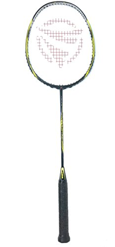 Cheap Dynamic Shuttle Sports Premium Hyperion KV-100 Carbon Fiber Indoor/Outdoor Professional Badminton Racket (Yellow)- for Both Offensive and Defensive Players, Good for All Levels