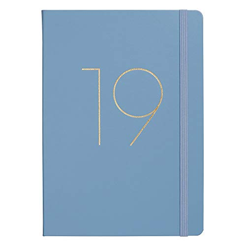 kikki.K 2019 A4 Bonded Leather Weekly Diary: Dusk Blue ()