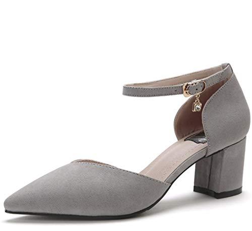 Formales Perforado Con Zapatos Talones Sólido sexy Liangxie Puntiagudas Boda color Velcro Mujeres Series Zhhzz Fiesta De Gris Sandalias Las Classic Comfort z1OPpq
