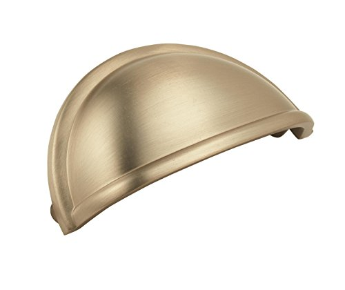 Amerock BP53010BBZ Cup Pull, 3 in (76 mm) Center-to-Center, Golden Champagne