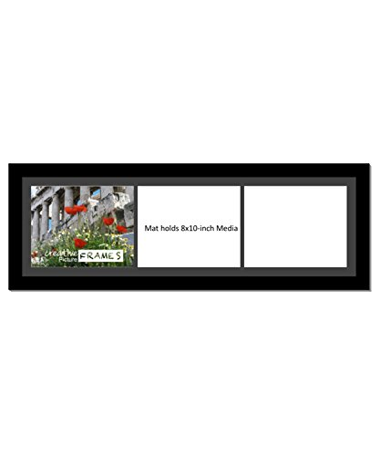 Amazoncom Creativepf 1032bk Black Picture Frame With 3 8x10