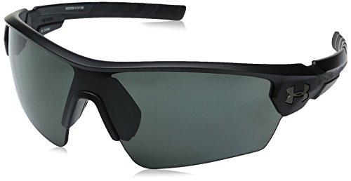 Under Armour UA Rival Polarized Wrap Sunglasses, UA Rival Storm (Ansi) Satin Black / Black Frame / Gray Polarized Lens, 65 - Polarized Sunglasses Armour Storm Under