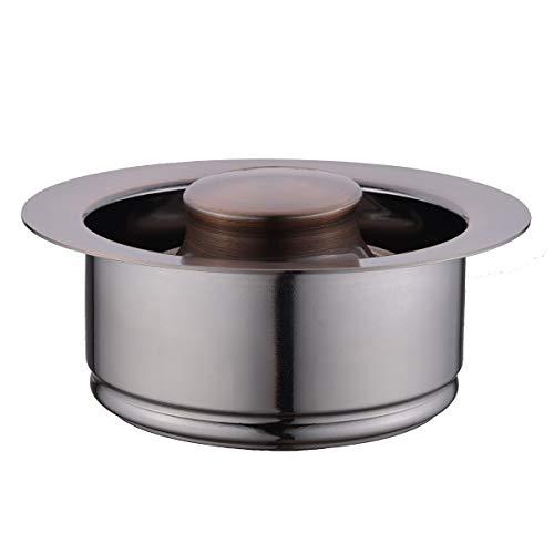 Copper Baffle Copper Flange - BESTILL Brass Sink Flange Kit for 3-Bolt Garbage Disposal, Antique Copper