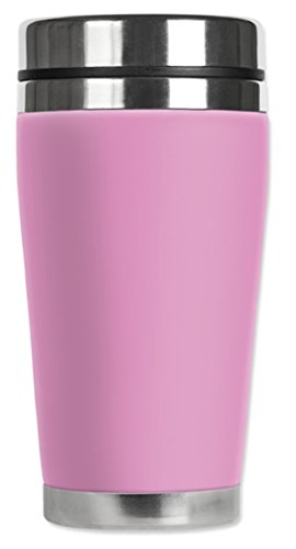 - Mugzie brand 16-Ounce Travel Mug with Insulated Wetsuit Cover - Pink