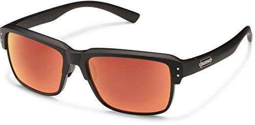 Suncloud Port O Call Polarized Sunglasses, Matte Black Frame, Red - Matte A/o