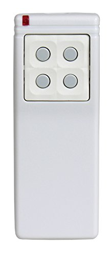 Linear DXS-25 Supervised 5-Button, 8-Channel Handheld Transmitter, White with Green Buttons by Linear
