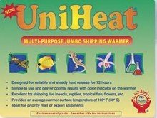 Multi-purpose jumbo 72-hour Uniheat Heat Pack for Cold Weather Shipping Plants, Live Insects, Reptiles, Tropical Fish and other temperature sensitive products. Protect products from cold weather. 5 PK by Uniheat