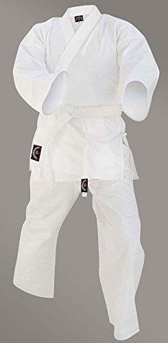 Prime Fitness Kids Karate Uniforms Suit 7-oz White Colour Cotton Martial Arts Size 000 to 3 (White, 1/140)