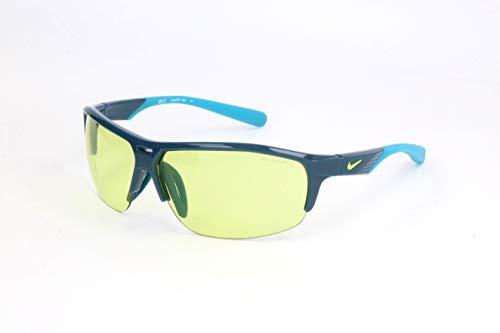 Nike EV0797-404 Run X2 E Sunglasses (One Size), Blue Force/Blue Lagoon, Volt Lens